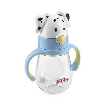 Dalmatian Tritan Flip It Cup with Silicone Thin Straw -Boy