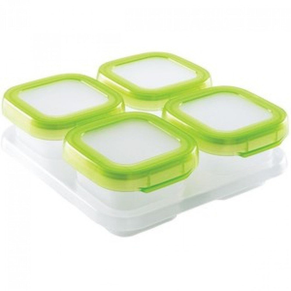 Baby Blocks Freezer Storage Container Set (4 Oz) - Green