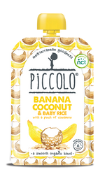 Piccolo Organic Banana, Coconut & Baby Rice with a pinch of cinnamon (Stage 1 - 100g )
