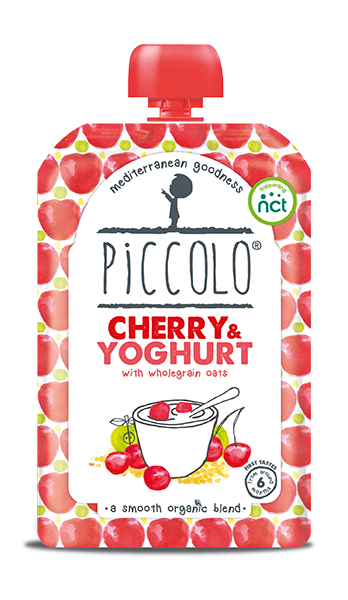 Piccolo Organic Cherry & Yoghurt with wholegrain oats (Stage 1 - 100g )