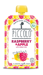 Piccolo Organic Raspberry & Apple with soaked oats (Stage 1 - 100g )