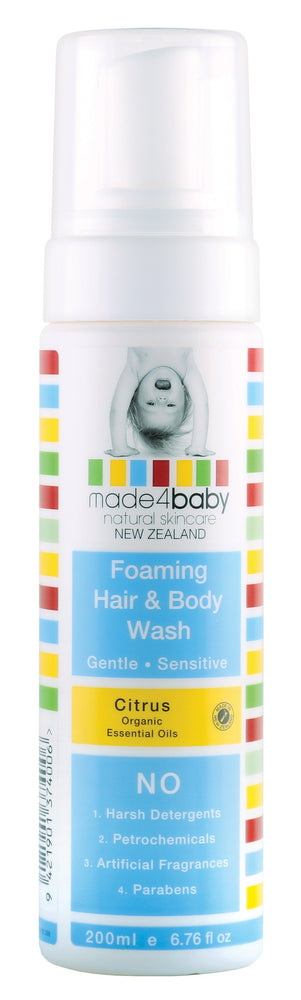 Foaming Hair & Body Wash  200ml-Organic Citrus (EXPIRY : Dec-20 )