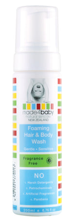 Foaming Hair & Body Wash 200ml- Fragrance Free (EXPIRY : Feb-21)