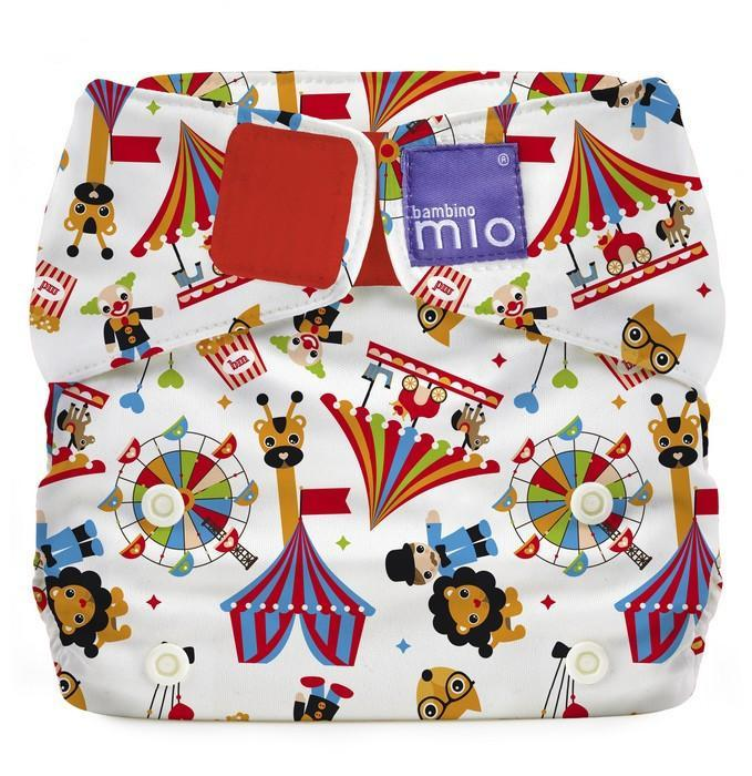 Bambino Mio - Circus Time Miosolo All in One Reusable Nappy