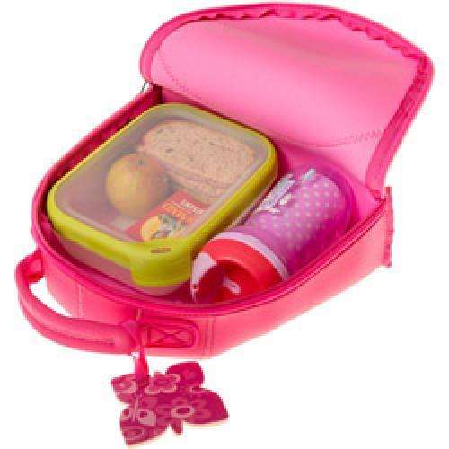 Bibetta - Pink Butterfly Neoprene Lunch Bag