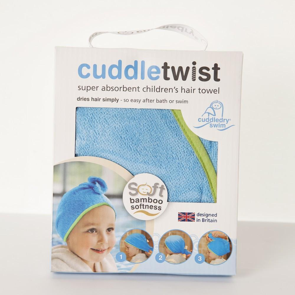 Cuddledry - Blue/Lime Cuddletwist Hair Towel