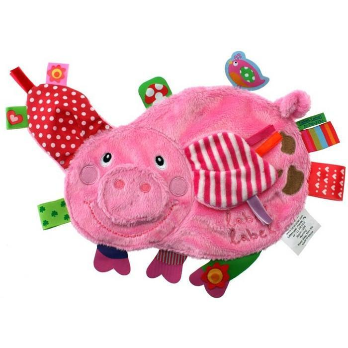 Label Label Friends Taggie Toy - Pig