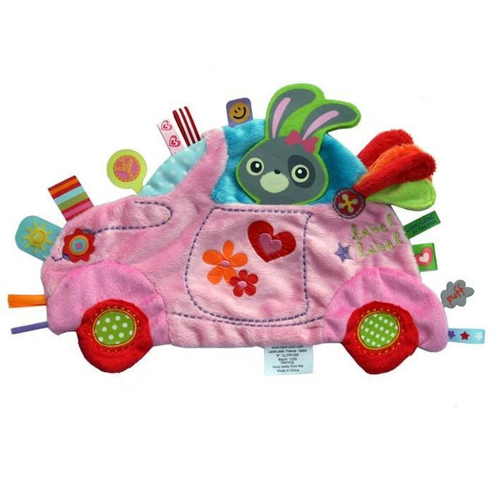 Label Label Holiday Taggie Toy - Pink Car