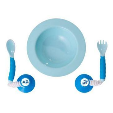 Ezee-Reach Stay-Put Cutlery Bowl - Blue Car