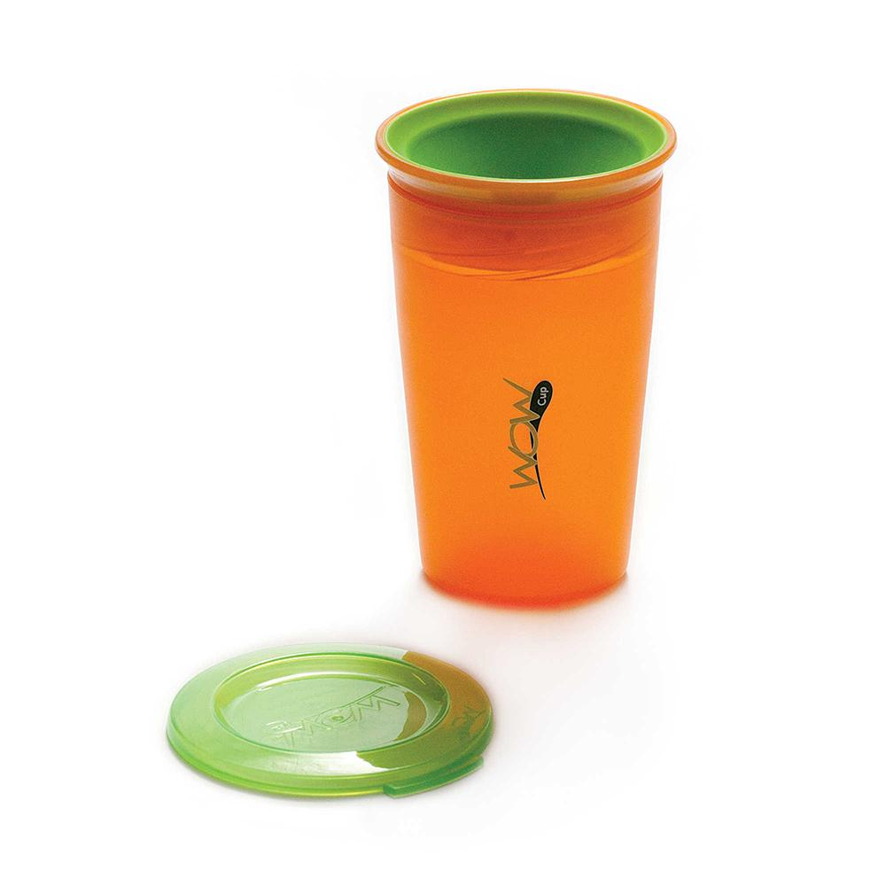 JUICY! WOW Cupa for Kids Translucent Spill Free Tumblers - Orange