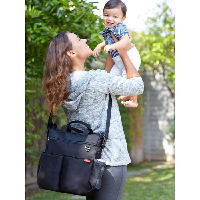 Duo Signature Diaper Bag - Black