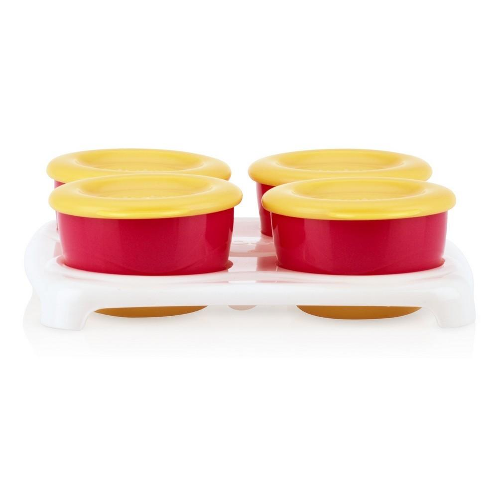 Easy Pop  Freezer pots - Red/Orange