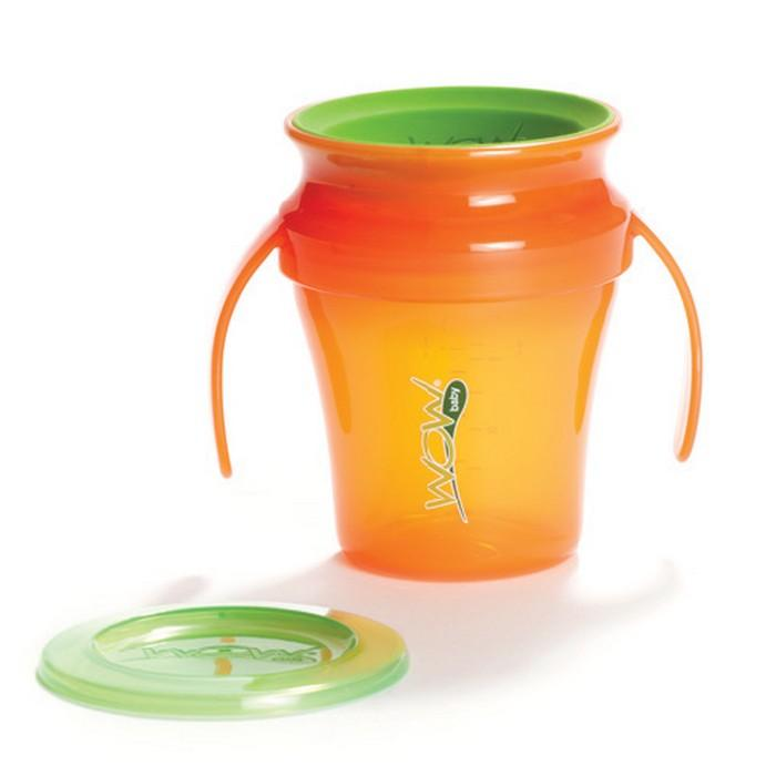 JUICY! WOW Baby Translucent Spill Free Training Cups - Orange