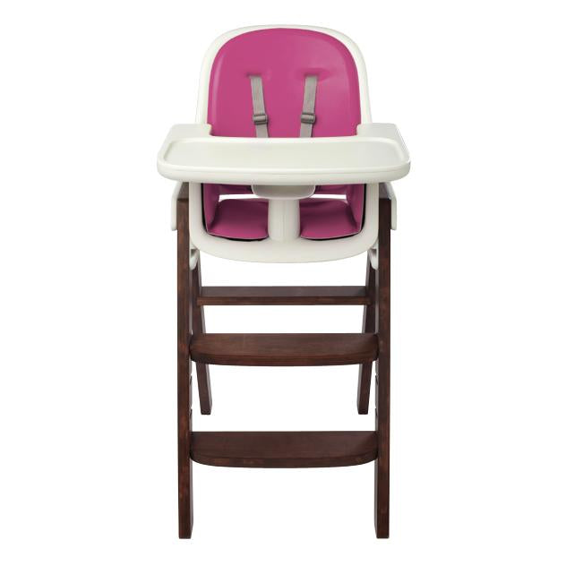 Sprout High Chair - Pink/Walnut