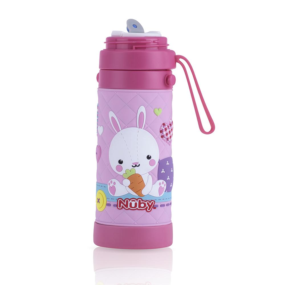 3-D Thermos with Cup and Carrying Strap-Bunny