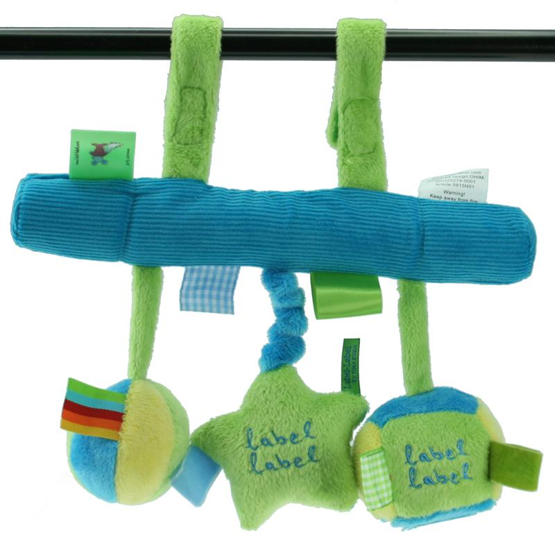 Label Label Stars Car Seat Activity Toy - Blue / Green