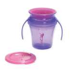 JUICY! WOW Baby Translucent Spill Free Training Cups - Purple