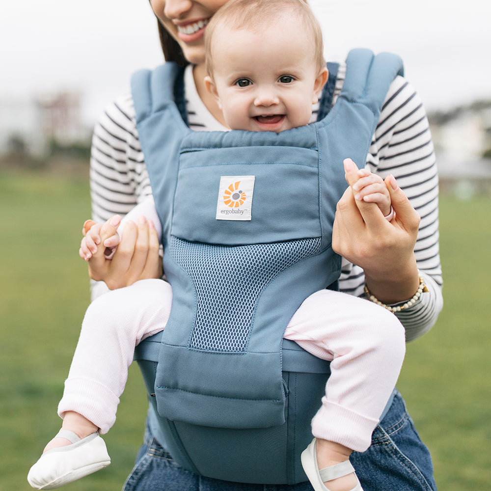 95bd12dc26b Ergobaby 6 Position Hipseat Carrier - Cool Air Mesh Oxford Blue ...