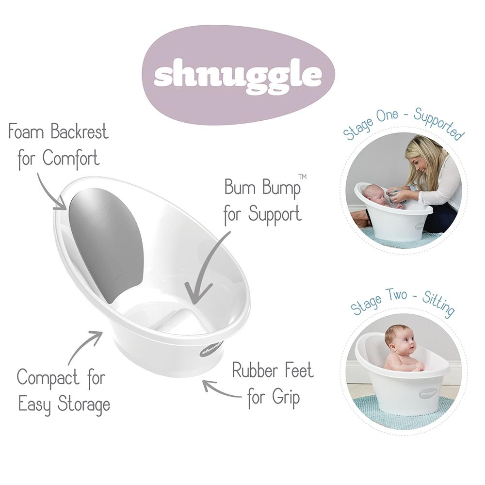 Shnuggle Bath - Rose with Light Grey