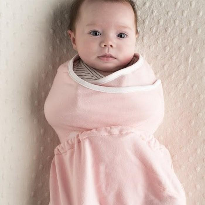 Ergobaby Sleep Tight Swaddler - Pink + Natural (small/medium)