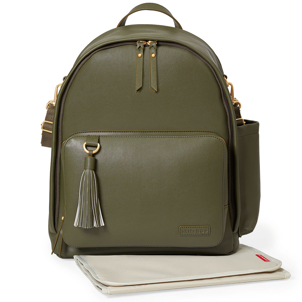 Greenwich Simply Chic Backpack- Olive