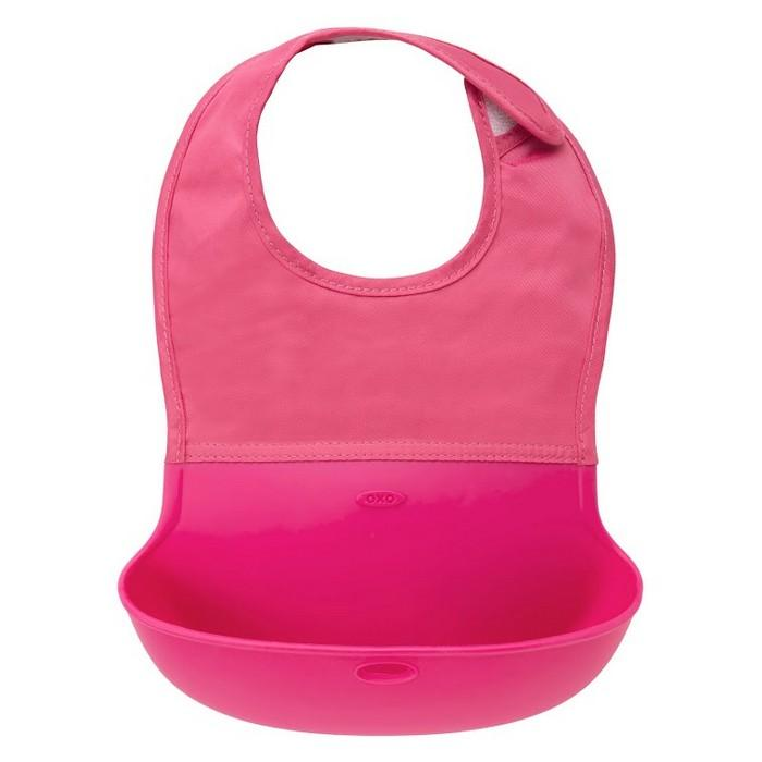 Roll Up Bib - Pink