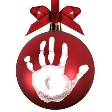 Pearhead - Babyprints Ball Ornament - Red