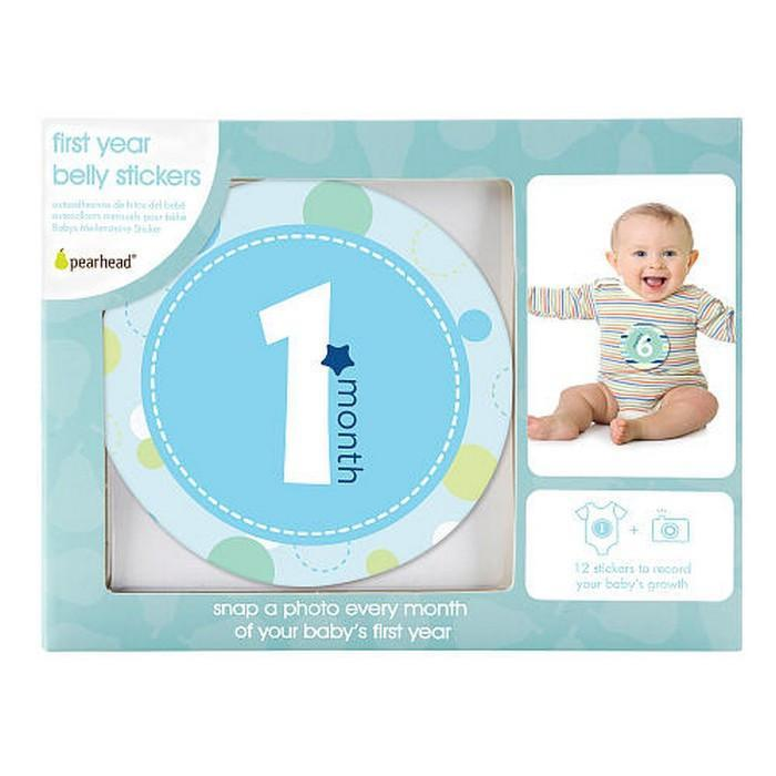 Pearhead - Blue First year Belly Stickers