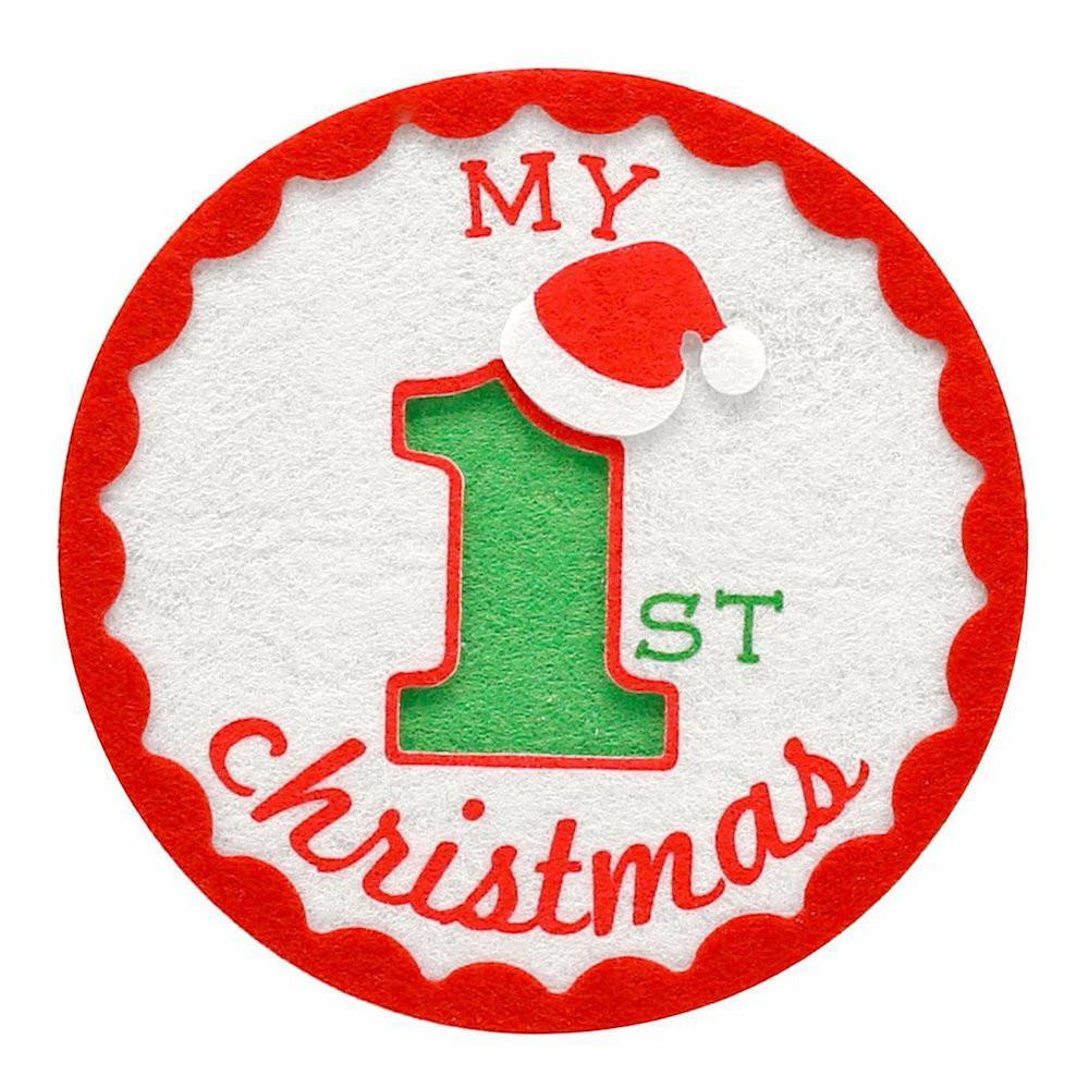 Pearhead - My First Christmas Felt Sticker