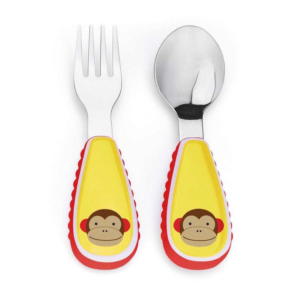 Skip Hop - Monkey Zootensils Fork and Spoon Set
