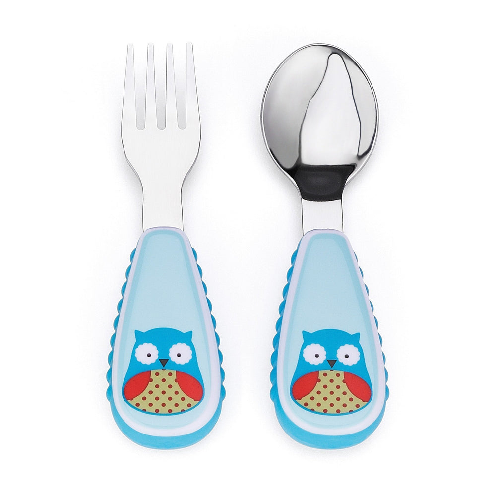 Skip Hop - Owl Zootensils Fork and Spoon Set