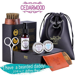 BFWood Beard Grooming Travel Kit –  Cedarwood #6038