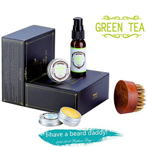 BFWood Beard Conditioner Grooming Kit – Green Tea #6032