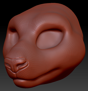 Feminine Giant Panda Head Base