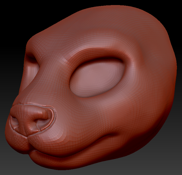 Feminine Asian Small-clawed Otter Head Base