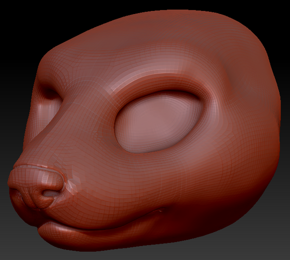 Feminine Weasel Head Base