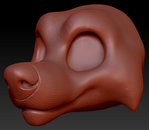 Gender Neutral Toony Large Canine Head Base Variant 1