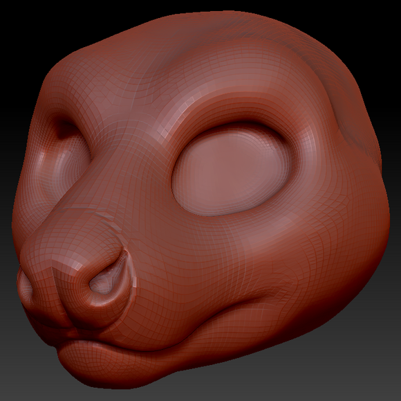 Gender Neutral Tasmanian Devil Head Base