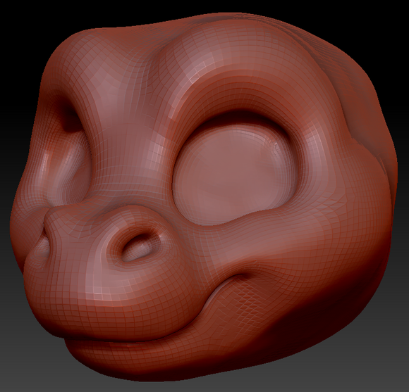 Kemono Toony Round Nosed Dragon Head Base Variant 1
