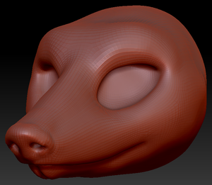Feminine Armadillo Head Base