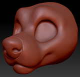 Gender Neutral Toony Large Canine Head Base Variant 4