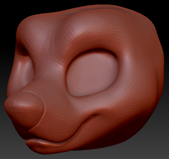 Kemono Toony Bear Head Base Variant 1