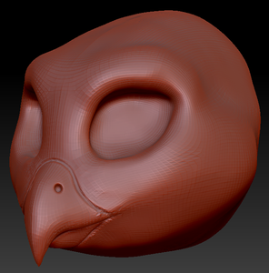 Feminine Barn Owl Head Base