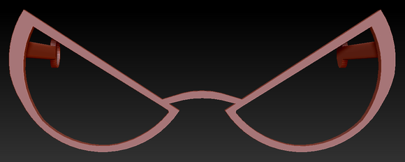 Angry Halfmoon Glasses W/ Arms