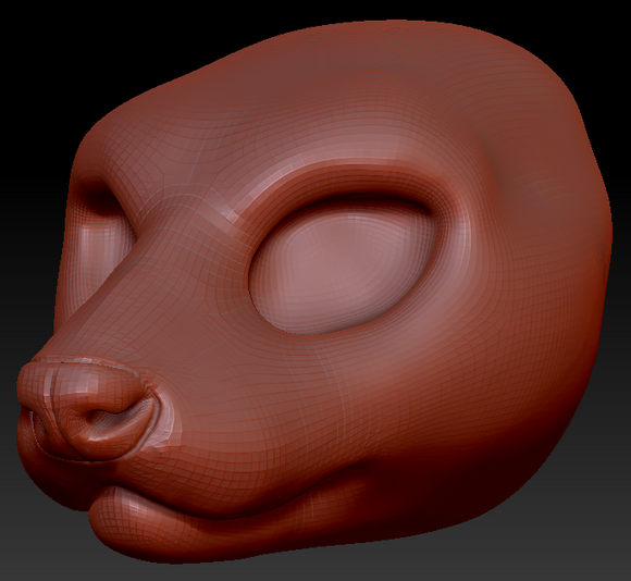 Feminine Ferret Head Base