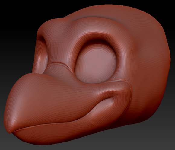 Gender Neutral Toony Bird Head Base Variant 3