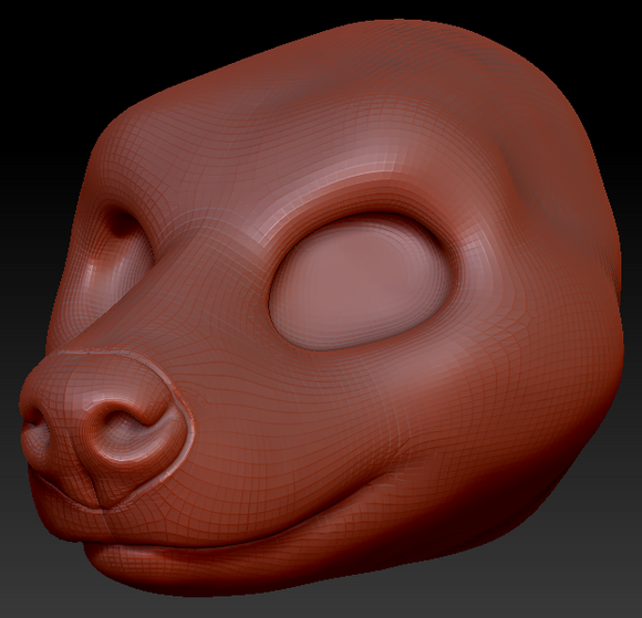 Gender Neutral Hyena Head Base