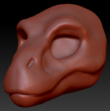 Feminine T-Rex Head Base
