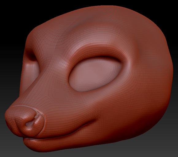 Feminine Opossum Head Base