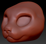 Feminine Pallas Cat Head Base